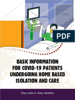 Basic Information for Covid 19 Patients Undergoing Home Based Isolation and Care