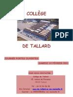 Plaquette College Tallard 2010-2011