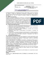 Plano de aula de Economia e administraçao
