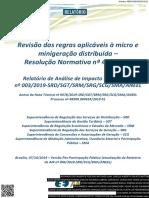 Analise de Impacto Regulatorio - ANEEL 2019