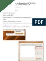 Ubuntu PPTP-Anleitung