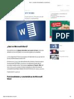 Word - Concepto, funcionalidades y características