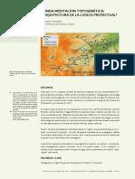 MEDITACIÓN TOPOGENÉTICA LA ARQ DE LA LOGICA PROY.pdf