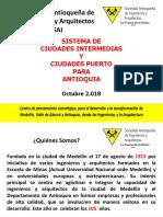 CIUDADES INTERMEDIAS Y CIUDADES PUERTO PARA ANTIOQUIA - 2018