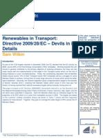 Renewables in Transport
