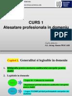 Curs 1 Generalitati, Atesatare Profesionala