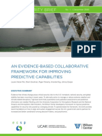 An Evidence-Based Collaborative Framework For Improving Predictive Capabilities