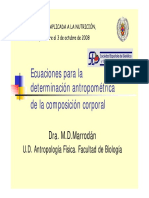 Ecuaciones Composición Corporal