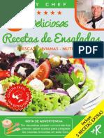 45 DELICIOSAS RECETAS DE ENSALADAS  FRESCAS  LIVIANAS  NUTRITIVAS Colección Cooky Chef nº 2 Spanish Edition_nodrm
