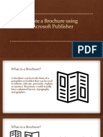 Create a Brochure using Publisher