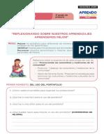 FICHA DE AUTOAPRENDIZAJE PERSONAL SOCIAL SESION EVALUACIÓN TERCER GRADO.pdf