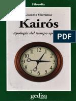 Marramao - Kairós _ Apología Del Tiempo Oportuno - Gedisa