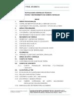 Ejemplo de Especificaciones Técnicas