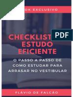 checklist de estudo eficiente