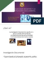 Recoleccion de datos Investigación Documental