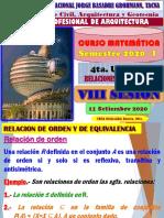 VIII SESIÓN CURSO MATEMATICA ARQUITECTURA