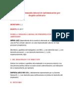Modelo de demanda laboral de indemnización por despido arbitrari1 (1).docx