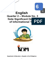 English6_Q2_Module3_Noting Significant Details_Version 3