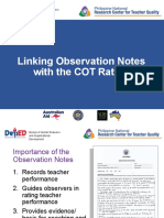 Session 6-8 Linking Observation Notes with COT Rating.pptx