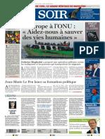 Le Soir 12 05 2015
