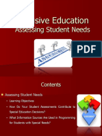 IE - Assessing Student Needs