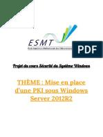 Mise en place d'un PKI sous Windows Server 2012