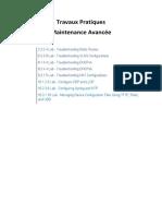 Devoir - TP Packet Tracer Maintenance Avancée