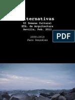 Alternativas - SemCult XI - Paco Gonzalez