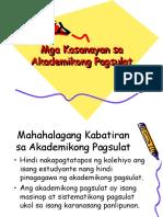 Mga Kasanayan sa Akademikong Pagsulat