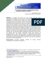 Tavares & Pawlowytsch (2013). Percepção dos pacientes sobre sua permanência em uma UTI