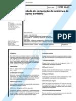 Estudos de Concepcao de Sistemas de Esgoto Sanitario NBR 09648 - 1986