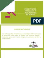 Presupuestos procesales   y actuaciones judiciales