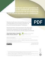 Monitoreo de procesos de educación ambiental - estructuración indicadores