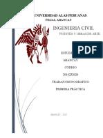 PRIMERA PRACTICA - PUENTES Y OBRAS DE ARTE