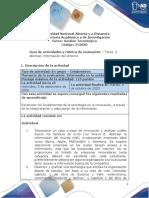 Guía de actividades y rúbrica de evaluación - Unidad 1 - Tarea 2 - Abstraer la información del entorno.pdf