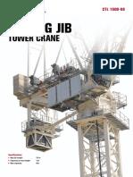 TEREX luffing tower crane 66t