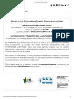 Certificado de antecedentes judiciales de Carlos Julio Manzano.