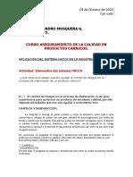 Semana 4_Victor A. Mosquera_Elementos del sistema HACCP.