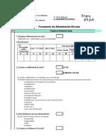 Formulario ALIMENTACIÓN ESCOLAR