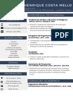 CV HENRIQUE MELLO Especialista de processos - Supply Chain