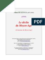 Huizinga - Le declin du Moyen Age.pdf