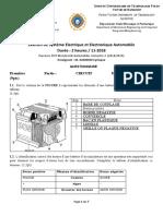 Examen de Système Electrique et Electronique Automobile