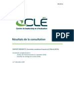 Rapport du Centre de leadership et d'évaluation