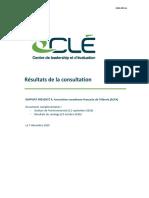 Rapport du Centre de leadership et d'évaluation