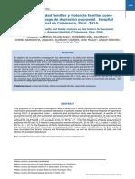 Disfuncionalidad familiar y violencia familiar como factores de riesgo de depresion puerperal