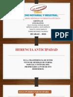 EXPOSICION - REISTRO DE BIENES INMUEBLES POR HERENCIA ANTICIPADA GRUPO 06