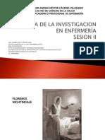 2. HISTORIA DE LA INVESTIGACION EN ENFERMERÍA