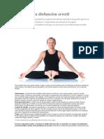 Yoga para la disfunción eréctil