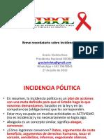 Breve Recordatorio Sobre Incidencia Política en VIH