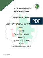 LOGISTICA y CADENA DE SUMINISTRO trabajo unidad 2